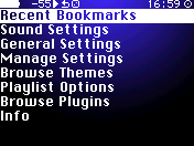 iPod Vision Nano Menu screenshot