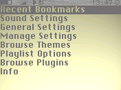 macLike menu screenshot
